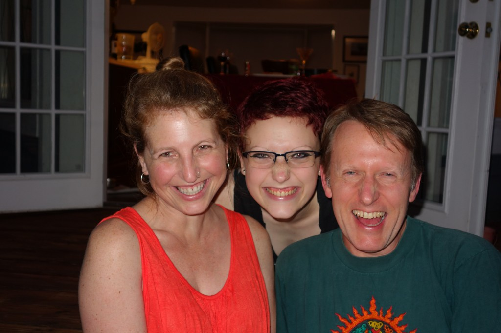 Tammy, Mali and Aaron Oesting