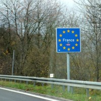 Entering France from Germany