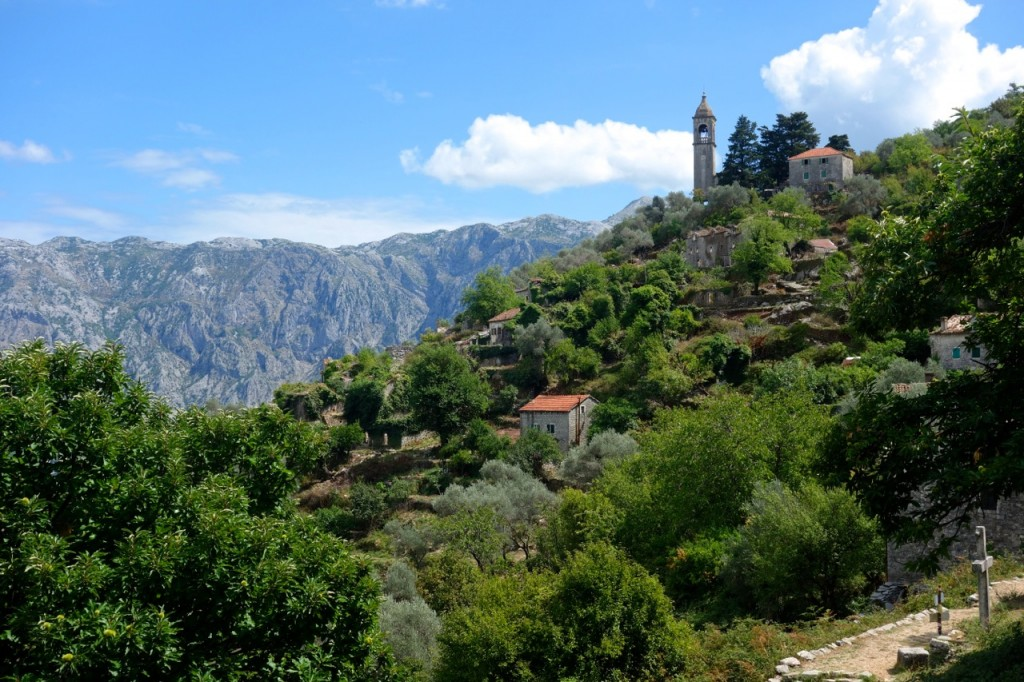 Abandoned township high above Kotor, Montenegro