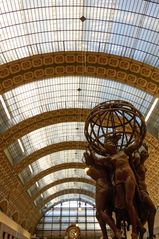 Musee D'Orsay in Paris, France is a former train station