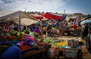 Busy weekly market