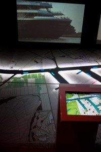 Interactive multi-media port at the museum