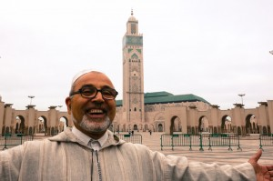 Our friendly guide Lazrak welcoming us to Casablanca