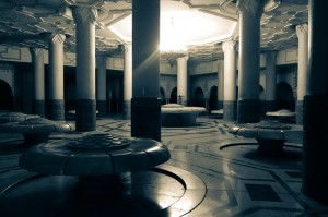 The ablution pools under the Hassan II Mosque