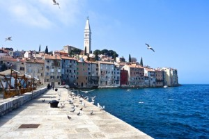 The cathedral of St. Euphamia towers above medieval Rovinj