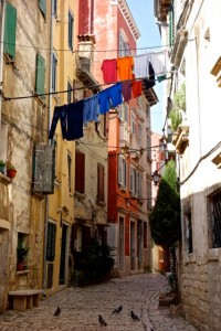 Colorful streets of Rovinj