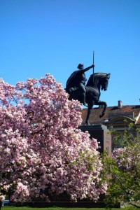 Yet another equestrian statue in the Trg Kralja Tomislava