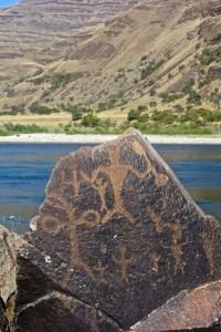 Petroglyphs along the river