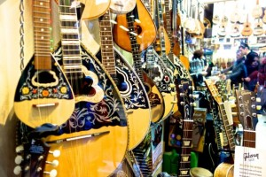Lovely instrument shop in Monastiraki