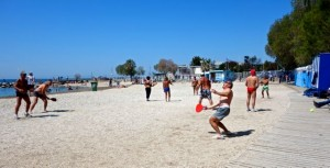 Pickleball on the beach