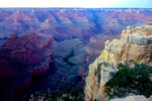 North Rim view after a long days climb out