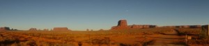 Crossing Monument Valley at dusk was magical