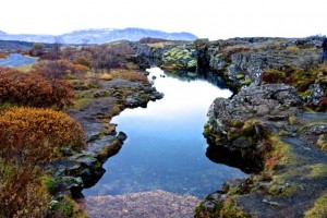 Thingvellir National Park is a continental divide
