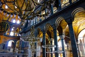Inside the massive Hagia Sophia