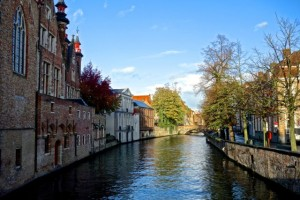 Charming canals throughout Bruges