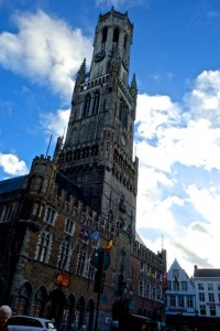 Church of Our Lady towers over Bruges