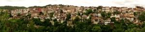 VT homes hug the hillsides