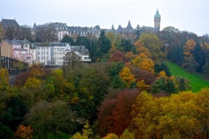 """The """"Ville Haute"""" or upper city is bathed in autumn colors"""