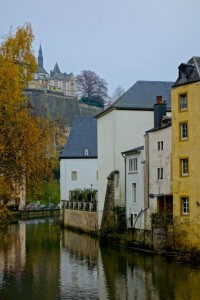 """The """"Low City"""" or Grund of Luxembourg carved by the Alzette"""