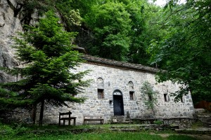 Church of St. Ivan high in the mountains