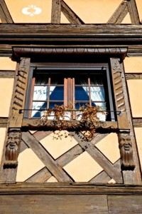 Half-timbered buildings abound in the Alsace