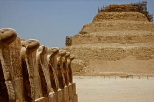 Step Pyramid of Djoser guarded by cobras