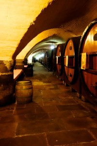 Wine casks in the Cave de Hospices de Strasbourg