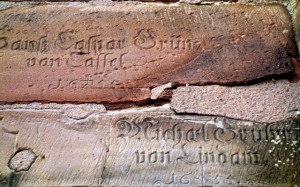 Medieval graffiti on the cathedral