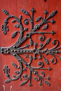 Medieval door hinge on the Strasbourg Cathedral