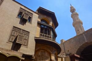 Minaret of Bab Zuweila Gate in Old Cairo