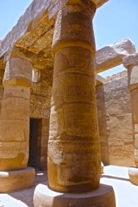 Gigantic pylon at Karnak