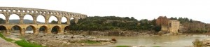 Pont du Gard from the South Bank