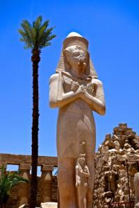 Forecourt Colossus of Ramesses II at Temple of Amun in Karnak