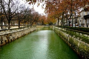 The Les Quais de la Fontaine brings water from the springs to the city
