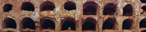 Medieval catacombs found within the Punic Wall ruins