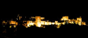 The Alhambra at night