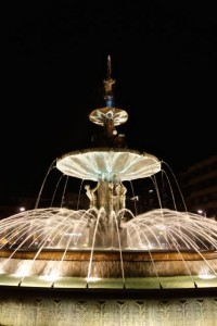 Lovely fountain in the Paseo del Violon