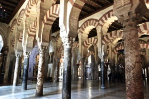 Hundreds of arches and columns in the Mezquita