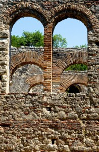 Great Basilica arches in Butrint