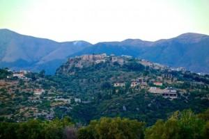 Castle ruins overlook Himare