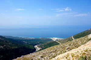 Switchback pass north of Himare