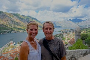 Tammy and Aaron enjoying Montenegro