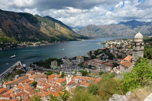 Kotor and its bay from above