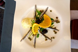Fantastic anchovie starter plate