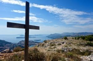 Croatian coastline from a memorial to those fallen in the Homeland War