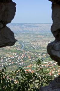 Blagaj from the arrow slots on Stjepan grad