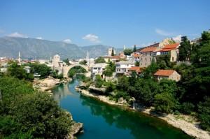 Stari Grad (old town) Mostar with its bridge