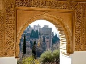The Alcazaba from the Jardine