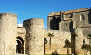 Moorish gate and city walls surround old Ronda