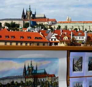 Saint Vitus Cathedral captured from the Charles Bridge